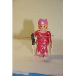 Playmobil nő távcsővel