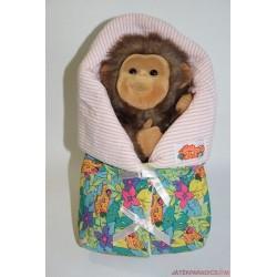 Élethű majombébi plüss báb
