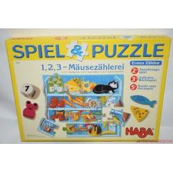 HABA 4262 Spiel & Puzzle 1,2,3 Mausezahlerei társasjáték