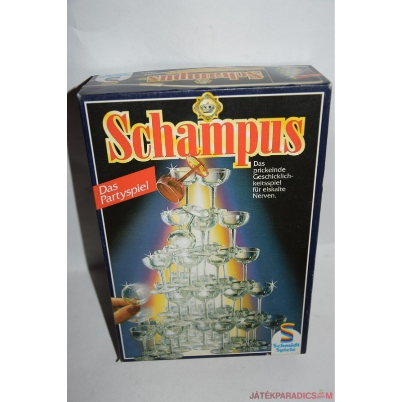 Schampus Pezsgőspoharas egyensúlyozó társasjáték