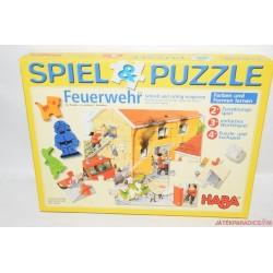 HABA 4265 Spiel & Puzzle Feuerwehr Tűzoltóség társasjáték