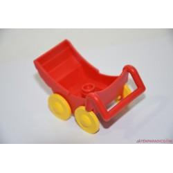 Lego Duplo  piros babakocsi