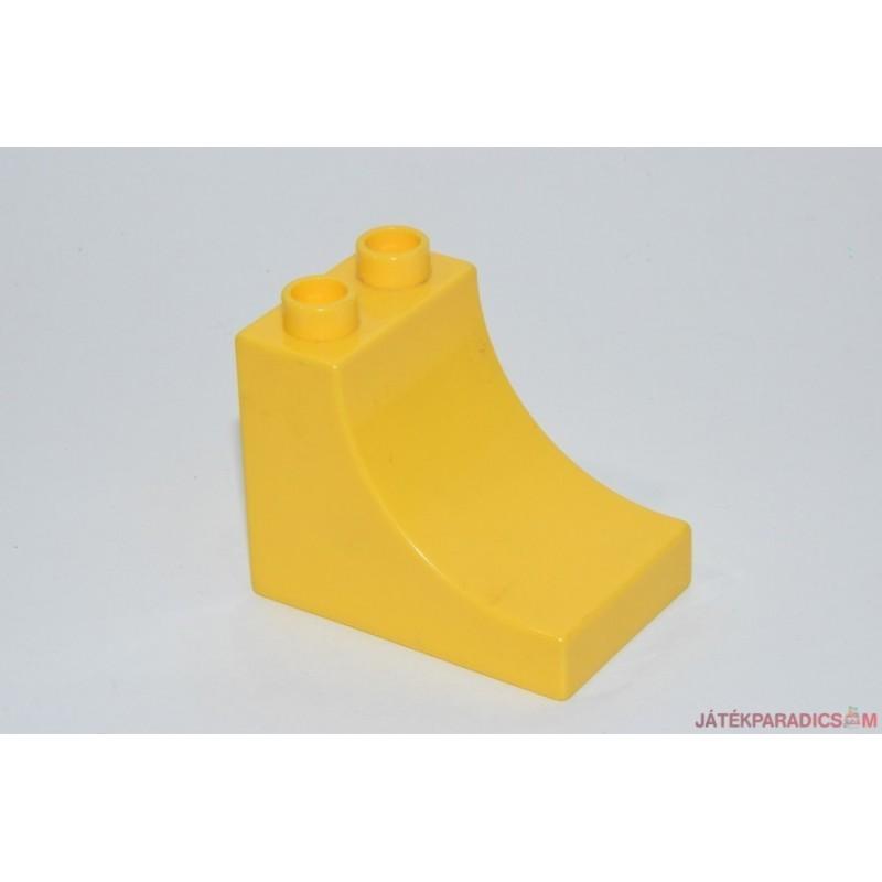 Lego Duplo sárga homorú elem