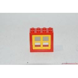 Lego kicsi piros ablak elem