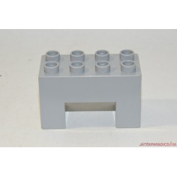 Lego Duplo U alakú szürke elem