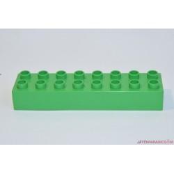 Lego Duplo világoszöld 8-as hosszú elem