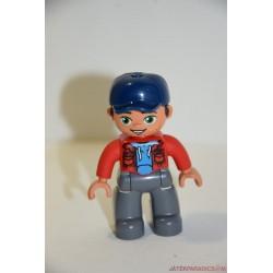 Lego Duplo kék baseball sapkás férfi