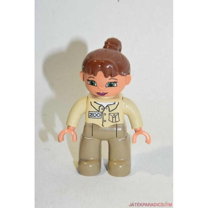 Lego Duplo állatgondozó copfos hajú nő