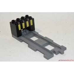 Lego Duplo szürke egyenes sín vég elem