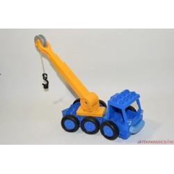 Lego Duplo Bob The Builder kék markoló autó sárga csigás emelővel