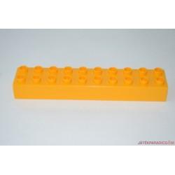 Lego Duplo hosszú narancssárga elem 10-es
