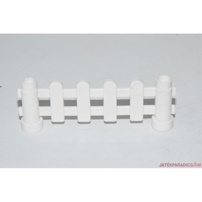 Lego Duplo fehér kerekített kerítés