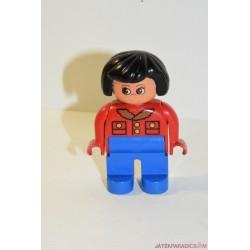 Lego Duplo piros pulcsis nő
