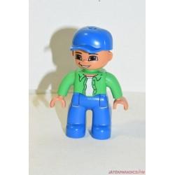 Lego Duplo baseball sapkás zöld inges férfi