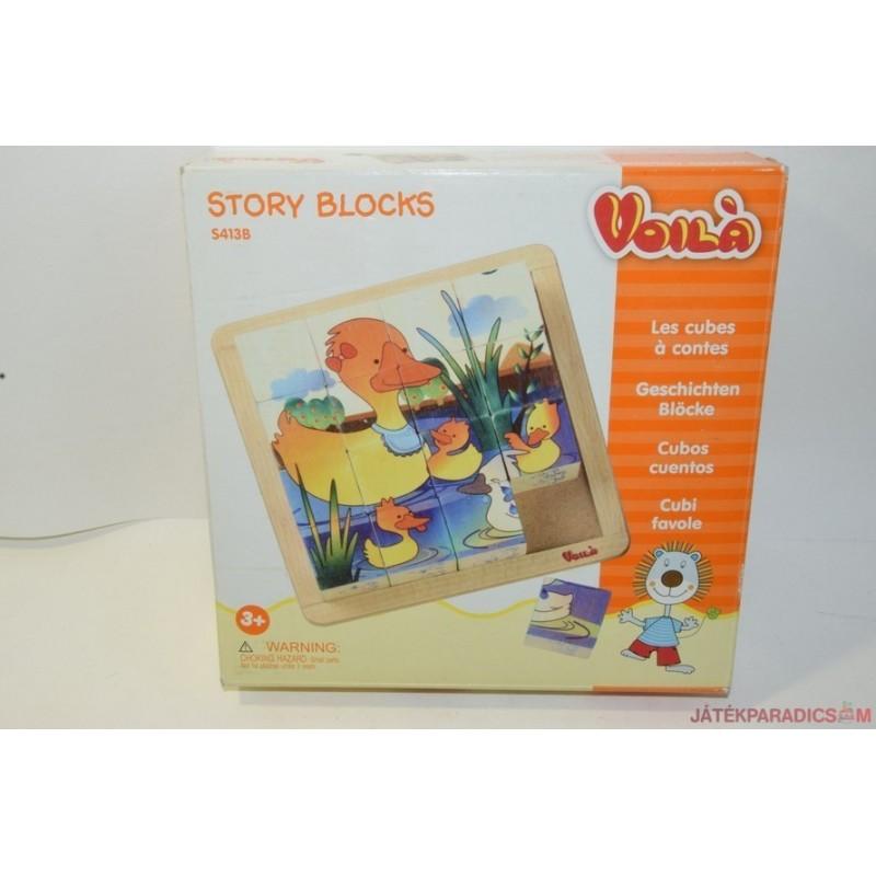Story Blocks állatos képkirakó kocka készlet