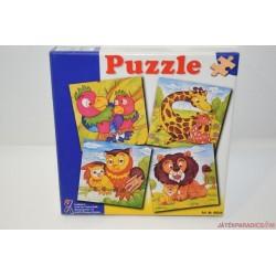 Állatok fa puzzle képkirakó játék