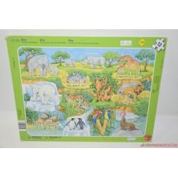 Szafari lapos puzzle kirakó játék
