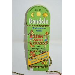Bandolo készségfejlesztő fonalas párosító játék Németül tanulok Set 14