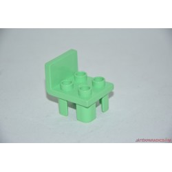 Lego Duplo zöld 4 lyukas szék