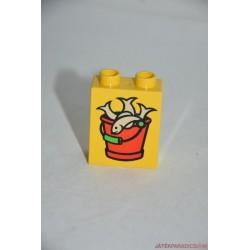 Lego Duplo halas vödör képes elem