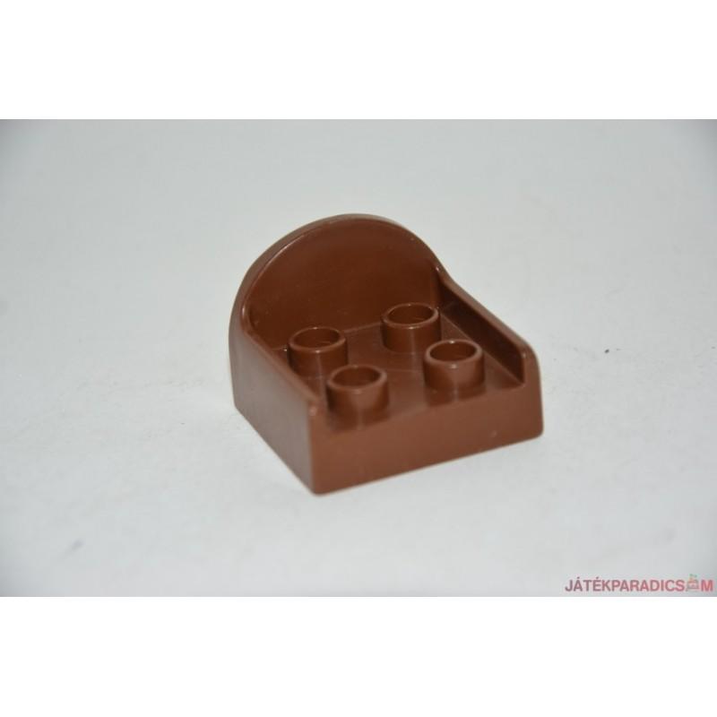 Lego Duplo barna, 4 lyukas fotel
