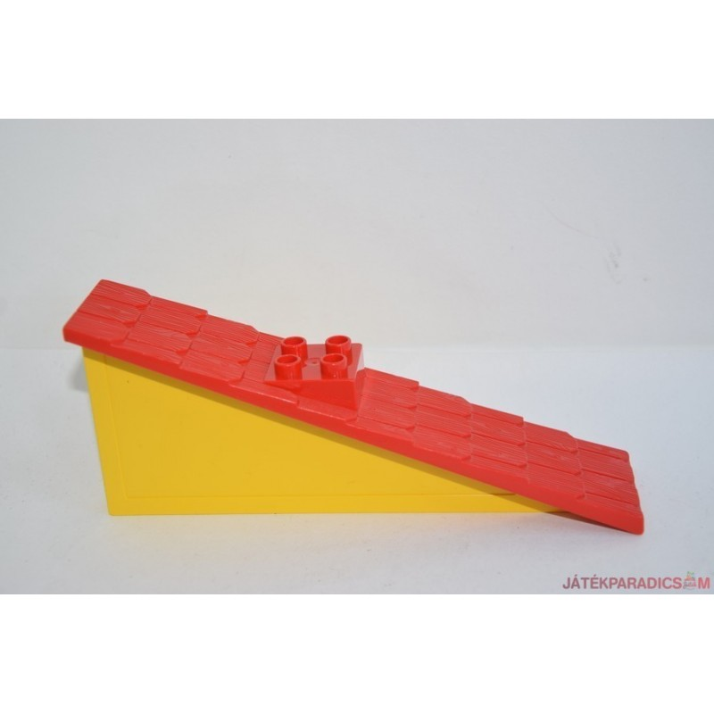 Lego Duplo hosszú piros sárga falú tető