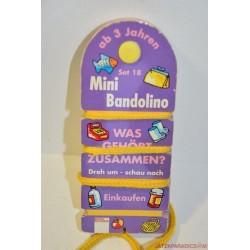 Mini Bandolino készségfejlesztő párosító játék Set  18 bevásárlás