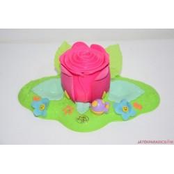 Vintage Polly Pocket rózsa szelence
