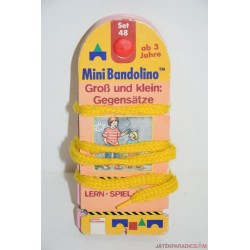 Mini Bandolino készségfejlesztő párosító játék Set 48 Ellentétek