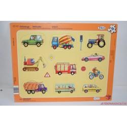 Járművek lapos puzzle kirakós játék
