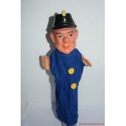 Vintage vasutas gumifejű báb