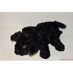 IKEA plüss fekete kutya kesztyűbáb