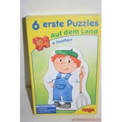 HABA 4139  6 erste Puzzle Baromfiudvar kirakó