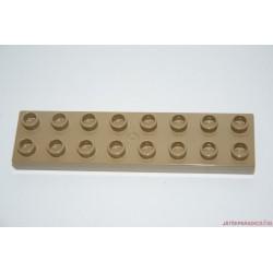 Lego Duplo hosszú lapos barna elem 8-as
