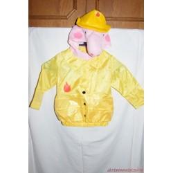 Peppa Pig tűzoltó farsangi jelmez 2-3 évesnek  42,B/40
