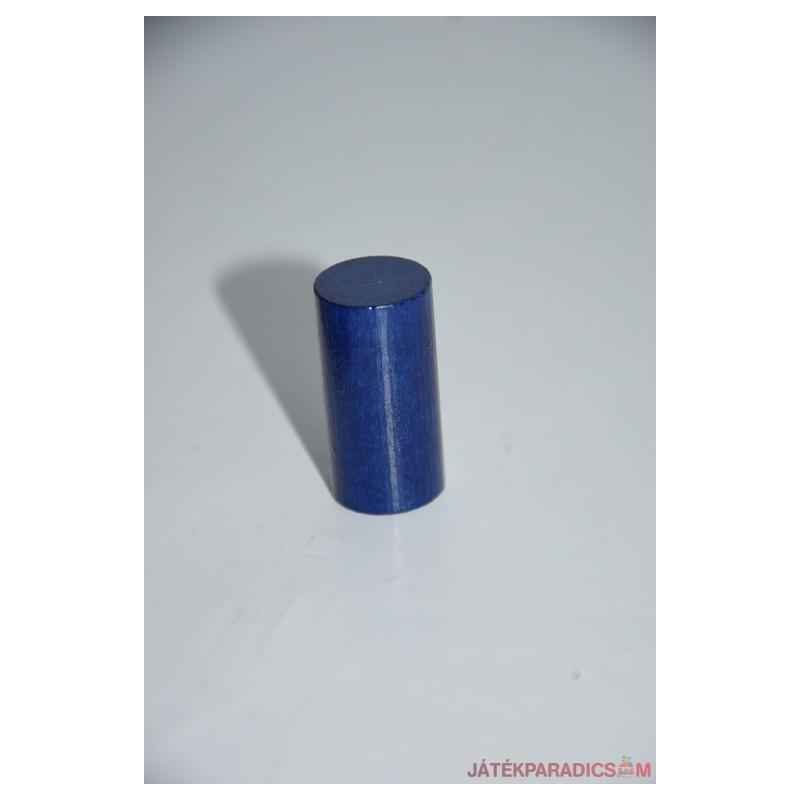 Kék fa színes henger rúd