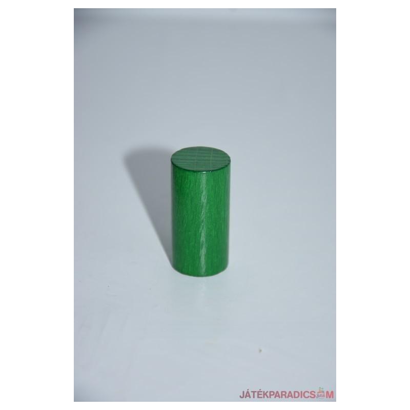Zöld fa színes henger rúd