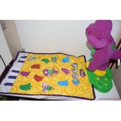 Eredeti éneklő Barney plüss dínó foglalkoztató szőnyeg Ritkaság!