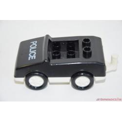 Lego Duplo fekete rendőrautó