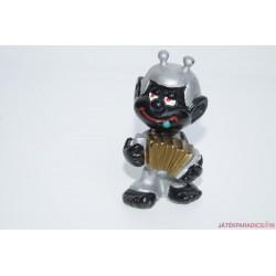 Hupikék törpikék fekete festésű Törpürlény gumifigura