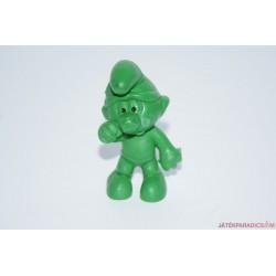 Zöld hupikék törpikék gumifigura
