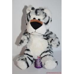 Plüss fehér tigris báb