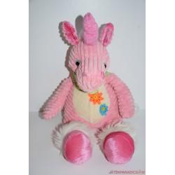 Rózsaszín plüss egyszarvú lovacska