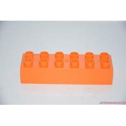 Lego Duplo narancssárga 6-os hosszú elem