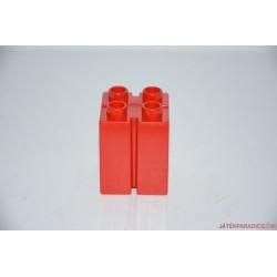 Lego Duplo rovátkás piros vastag tégla