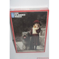 Kislány kutyával puzzle kirakó játék Új!