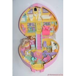 Vintage Lucy Locket Polly Pocket szívecske bőrönd készlet