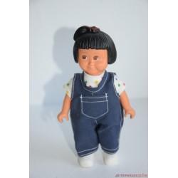Vintage Lego Duplo Dolls kislány baba farmer kantáros nadrágban