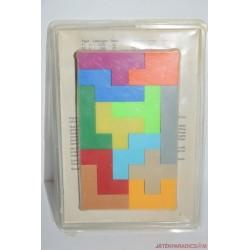 Vintage 12 db-os formakirakó logikai játék