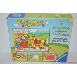 Farm Friends 4 az 1-ben puzzle kirakós játék